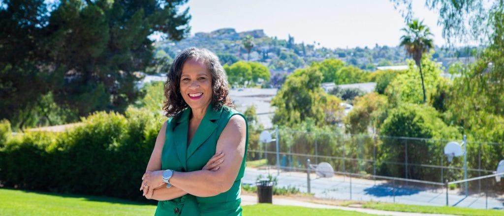 Patricia Dillard standing in a park